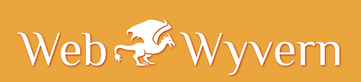 web wyvern banner - logo and text on orange